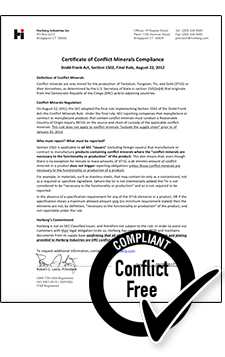 Conflict Minerals Certificate